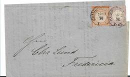 Kaiserreich XX001 / Gr. Brustschild Mi.Nr. 16 + 18 Mit Super-Prägung (Circular Nach Dänemark) 1874, Mit Attest - Deutschland