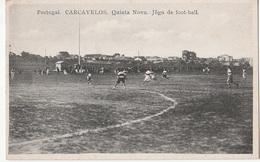 Portugal -postal Antigo Não Circulado Carcavelos Jogo De Futebol - Portugal