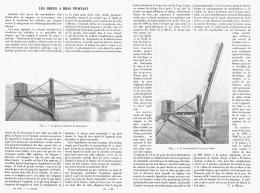 LES GRUES  à  BRAS  PIVOTANT    1911 - Sciences & Technique