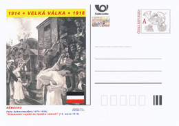 "Rep. Ceca / Cart. Postali (Pre2014/30) WWI - 10 Germania: Felix Schwormstädt ""Fornire Truppe Nella Stazione Ferroviaria"" - Buste"