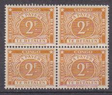 A0273 - CONGO BELGE TAXE Yv N°77(A) BLOC ** - Congo Belge