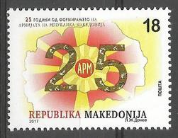 MK 2017-14 25A°ARMY, MACEDONIA MAKEDONIJA, 1 X 1v, MNH - Militaria