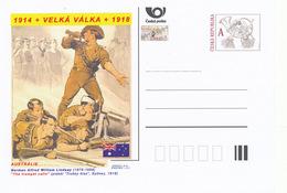 """Rep. Ceca / Cart. Postali (Pre2014/31) Grande Guerra (WWI) - 11 Australia: Norman Lindsay """"La Tromba Chiama"""" - Buste"""