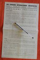 13ème Congrès Des Architectes à Rome - Programme Provisoire - 1935 - Programmi
