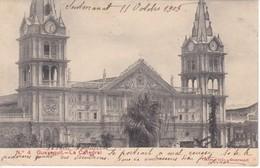 4 POSTAL DE GUAYAQUIL - LA CATEDRAL DEL AÑO 1905  (JANER E HIJO) ECUADOR - Ecuador