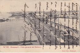 20 POSTAL DE GUAYAQUIL - VISTA GENERAL DEL MALECON DEL AÑO 1906  (JANER E HIJO) ECUADOR - Ecuador