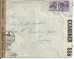 Brief Van Java Naar Engeland 1941 Met Nederlandse En Engelse Censuurstrook - Indes Néerlandaises