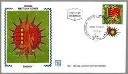 ENERGIA SOLAR - SOLAR ENERGY. SPD/FDC Jerusalem 1981 - Protección Del Medio Ambiente Y Del Clima