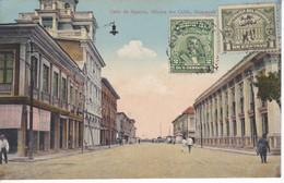 POSTAL DE GUAYAQUIL DE LA CALLE DE AGUIRRE - OFICINA DEL CABLO DEL AÑO 1924  (VICTOR SANCHEZ - Z.BALLEN) ECUADOR - Ecuador