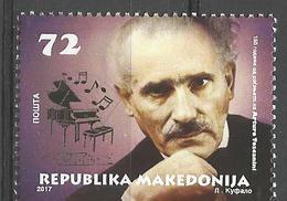 MK 2017-17 ARTURO TOSCANINI, MACEDONIA MAKEDONIJA, 1 X 1v, MNH - Mazedonien