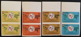 Ghana 1965  Cent. Of The I.T.U. Imperf. Pair - Ghana (1957-...)