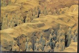 CINA - SHIHUANG'S TERRACOTTA WARRIORS - VIAGGIATA 2000 FRANCOBOLLO ASPORTATO - Cina