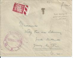 Brief Verstuurd  In Portvrijdom Naar Poste Restante Juan Les Pins - Stempel Van Het 1e Regiment Vreemdelingenlegioen (19 - Oorlog 40-45