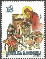 MK 2017-22 CHRISTMAS, MACEDONIA MAKEDONIJA, 1 X 1v, MNH - Weihnachten