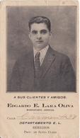POSTAL DE CUBA DE EDGARDO LARA OLIVA MANDATARIO JUDICIAL DE LA PROVINCIA DE SANTA CLARA (DEPARTAMENTO REMEDIOS) - Cuba
