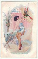 Illustrateur Peras // Beauté Féminine, Froufrou, Nénette à La Mode No. 6 Série 68 - Künstlerkarten