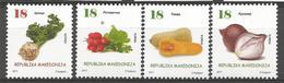 MK 2017-25 DEFINITIVE VEGETABLES, MACEDONIA MAKEDONIJA, 1 X 4v, MNH - Macédoine