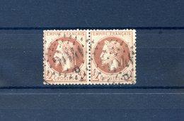 France N°26 - Paire - GC 2046D (Lilles) - (FO91B) - 1863-1870 Napoléon III. Laure