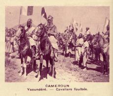 Chromo, Image, Vignette : Cameroun, Yaoundéré, Cavaliers Foulbés (6 Cm Sur 7 Cm) - Unclassified