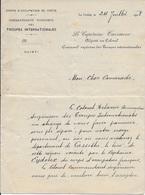 2 Lettres De 1908 Du Corps D'Occupation De La Crète à La Canée Pour Le Commandant De La Cie De Gendarmerie De Candie - Marcophilie (Lettres)
