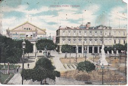 POSTAL DE LA HAVANA DE CENTRAL PARK CON PUBLICIDAD DE TABACO FLOR DE MI VEGA - Cuba