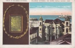 POSTAL DE LA HAVANA DE COLUMBUS CATHEDRAL AND MORRE CASTLE (ROBERTS & Co) - Cuba
