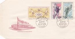 Ceskoslovensko FDC 1956 Melbourne Olympic Games - Oympijsky Rok (DD20-54) - Sommer 1956: Melbourne