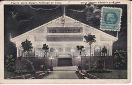 POSTAL DE SANTIAGO DE CUBA DEL TEATRO VISTA ALEGRE DEL AÑO 1918 (EDIC. RENACIMIENTO) - Cuba