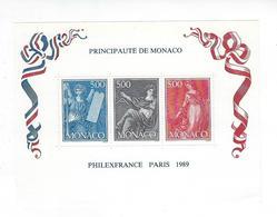 Timbres - Monaco - Bloc - Philexfrance - Paris - 1989 - Blocks & Sheetlets