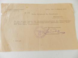 Militaria - Armentières - 5 Documents écrits En Allemand - Cachets De La Standortkommandantur D'Armentières - 1942 - Documents