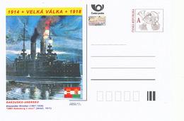"Rep. Ceca / Cart. Postali (Pre2014/33) Grande Guerra - 13 Austria-Hungary: Alexander Kircher ""SMS Habsburg At Night"" - Buste"