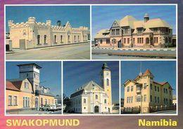 1 AK Namibia * Swakopmund - Alte Kaserne 1905 - Gefängnis 1908 - Haus Altona - Evang. Kirche 1911 - Ritterburg * - Namibia