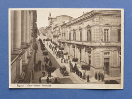 Cartolina Ragusa - Corso Vittorio Emanuele - 1936 - Ragusa
