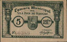 CÉDULA DE 5 CENTAVOS N/D Nº.00389 - Portugal