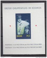 DDR  Block 17, Postfrisch **, Erster Gruppenflug Im Kosmos 1962 - Blocks & Kleinbögen