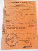 Militaria - Armentières -  Carte Laisser-Passer - 1943 - Documents
