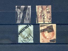 France - Lot De 4 Timbres - Annulation Typographique Des Journaux - (F092C) - France