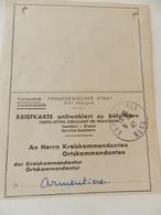 Militaria - Armentières (59) - 1942 - Carte De Déclaration De Maladies - Documents