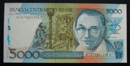 Brasile 5000 Cruzados 1988 FdS Brazil UNC - NOT Overstamped - Brasile