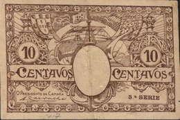 CÉDULA DE 10 CENTAVOS N/D-3ª.SÉRIE - Portugal