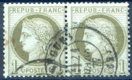France - Cérès N°50 - Paire Oblitérée - (F092H) - 1871-1875 Ceres