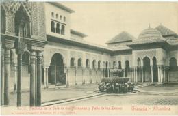Granada; Alhambra. Fachada De La Sala De Dos Hermanas Y Patio De Los Leones - Not Circulated. (A. Linares - Granada) - Granada