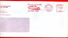 AUDI 100 NECKARSULM - AUTO -1993 EMA METER FREISTEMPEL N.E10 - 8941 - Automobile