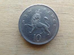Grande-bretagne  10  New Pence  1975  Km 912 - 1971-… : Monnaies Décimales