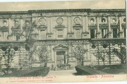 Granada; Alhambra. Fachada De Palacio De Carlos V - Not Circulated. (Abelardo Linares - Granada) - Granada