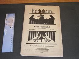 REICHSKARTE - KREIS BERNKASTEL - REG.BEZ.TRIER. - 1935 - Geographical Maps