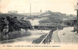 Verviers - Ensival - Le Pont Sur La Vesdre , Le Viaduc Et La Station De Lambermont - Verviers