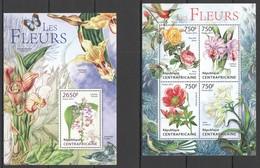 C659 2013 CENTRAL AFRICA NATURE FLORA FLOWERS LES FLEURS KB+BL MNH - Végétaux