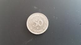Germany - 50 Pfennig - 1980D - VF+ - [ 7] 1949-… : FRG - Fed. Rep. Germany