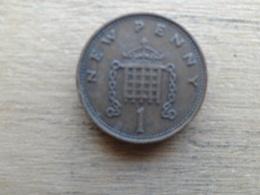 Grande-bretagne  1 New Penny  1973  Km 915 - 1971-… : Monnaies Décimales